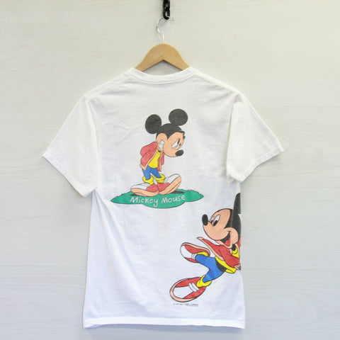 Vintage Mickey Mouse Florida Walt Disney Velva Sheen T-Shirt Size Medium White