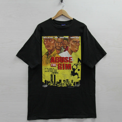 2006 Abuse the Rim Give Me Face T-Shirt Size 2XL 2pac Tupac Shakur Parody