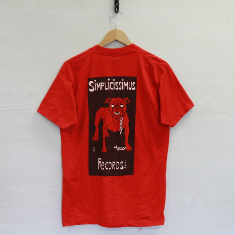 VTG Simon Magus Radical Scam Simplicissimus T-Shirt Large 80s 90s Single Stitch