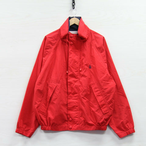 Vintage Nautica Light Sailing Jacket Size Large Red Yellow 90s