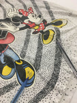 Vintage Mickey Minnie Mouse Disney T-Shirt XL 90s All Over Print Holding Hands