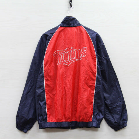 Minnesota Twins MLB Windbreaker Light Jacket Size XL Red Blue Full Zip