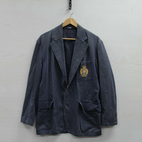 Vintage Polo Ralph Lauren Button Up Blazer Jacket Coat Size 38 MCMLXVIII Crest