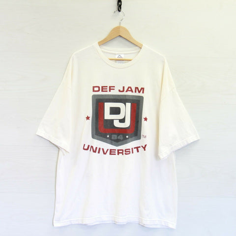 Vintage Def Jam University I Am Hip Hop Double Sided T-Shirt Size 3XL Rap Tee