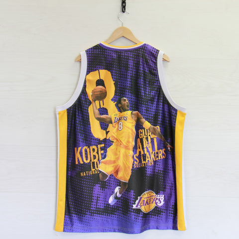 Vintage Kobe Bryant #8 Los Angeles Lakers Majestic Jersey Size XL