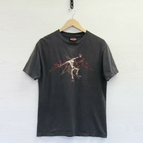 2003 Metallica Double Sided Distressed Artimonde T-Shirt Small Band Tee Squindo