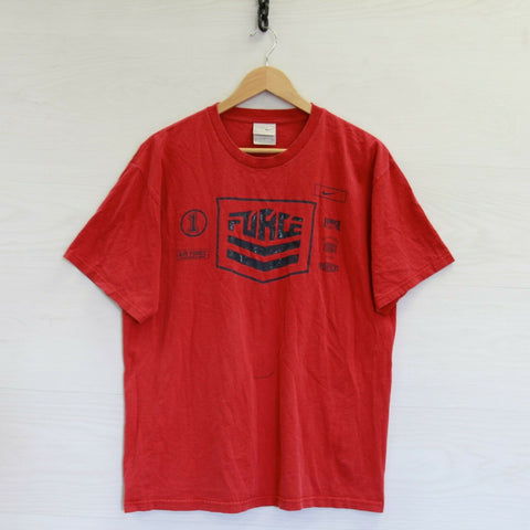 Vintage Nike Air Force 1 T-Shirt Size Large Red Swoosh