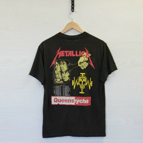 VTG 1989 Metallica Operation Mind Crime Justice For All T-Shirt Small Distressed