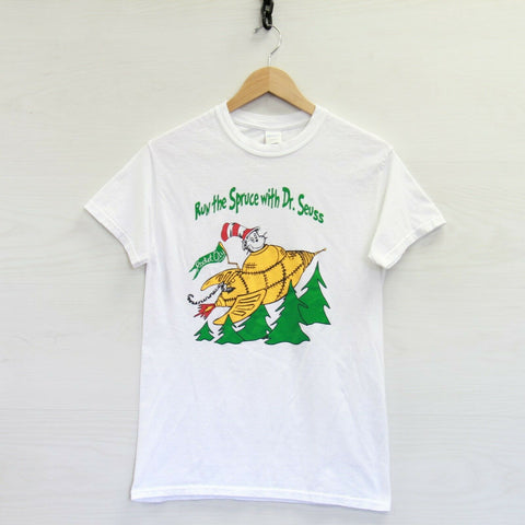 Run the Spruce Dr Seuss T-Shirt Size Small Cat in Hat Rocket City Think Wonder
