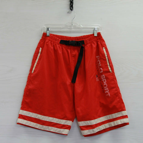 Vintage Polo Sport Ralph Lauren Bathing Suit XL USA Flag Swim Shorts Trunks