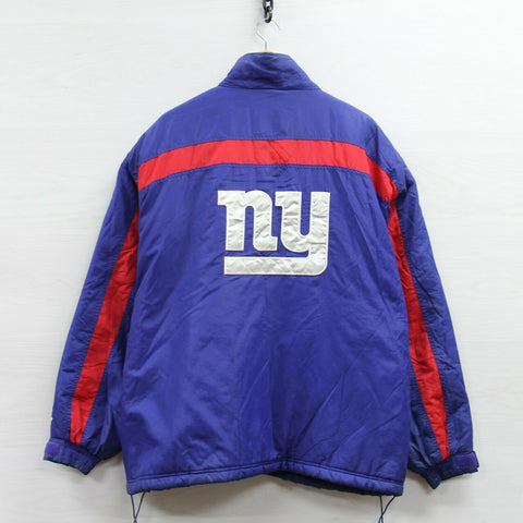 Vintage New York Giants Logo Athletic Puffer Jacket Size 2XL Insulated 90s NFL