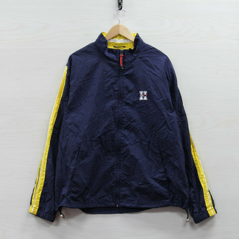 Vintage Tommy Hilfiger Windbreaker Light Jacket Size XL Blue Yellow 90s Flag