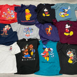 Vintage Walt Disney World Tees Wholesale Bundle T-Shirt Box Assorted 12 Pcs