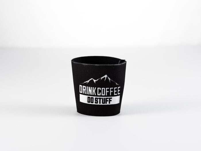 Hell Yeah! Reusable Sleeve from DRINK COFFEE DO STUFF, Lake Tahoe's specialty coffee roaster.