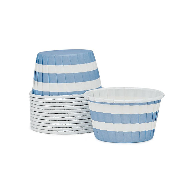 Blue & White Stripe Ice Cream/Candy Cups Australia