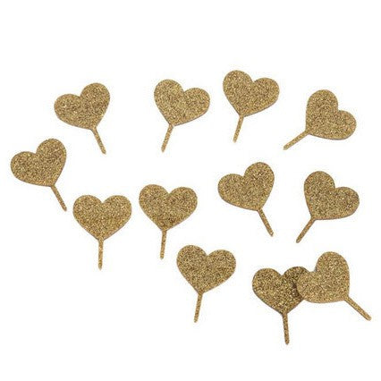 gold glitter acrylic cupcake toppers Australia