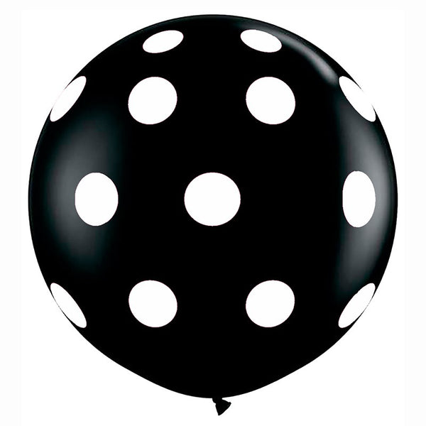 Giant Round Black & White Polka Dot Balloon