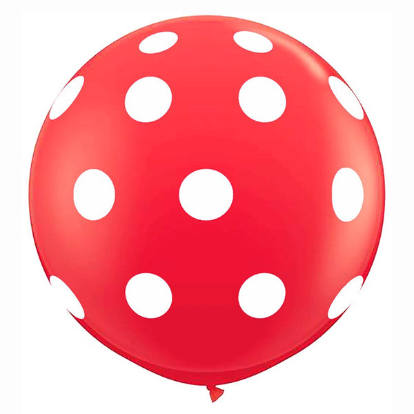 Giant Round Red & White Polka Dot Jumbo Balloon Australia