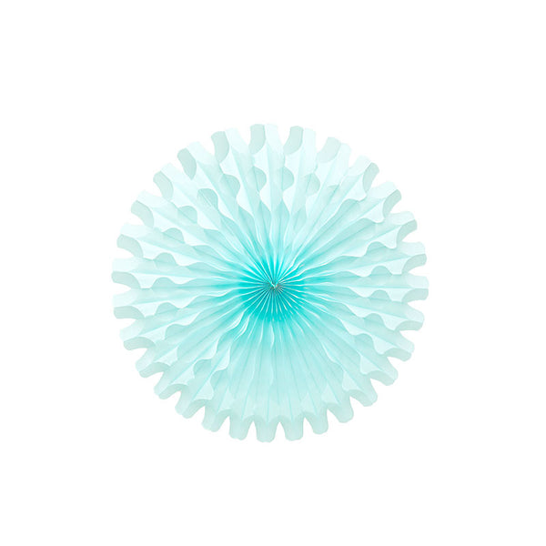 Light Blue Paper Fan decoration party supplies Australia