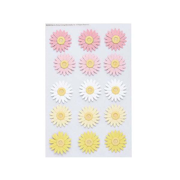 Martha Stewart Crafts Pink & Yellow Daisy Stickers Australia