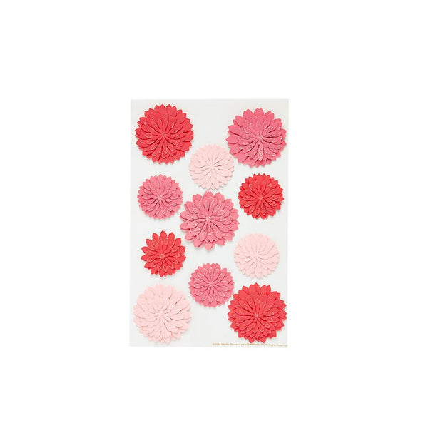 Martha Stewart Red & Pink Dahlia Stickers Australia