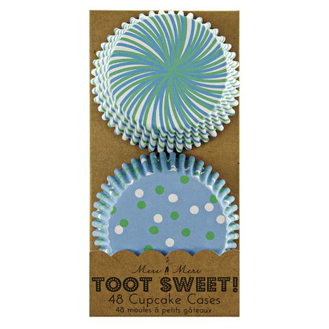 Meri Meri Toot Sweet Blue Patterned Baking Cups Australia