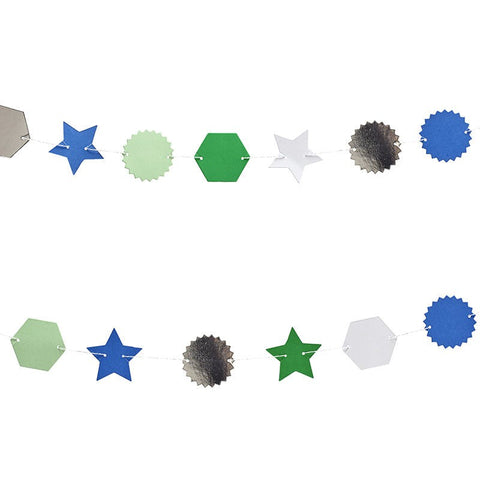 Meri Meri Toot Sweet Blue and Silver Mini Garland Australia