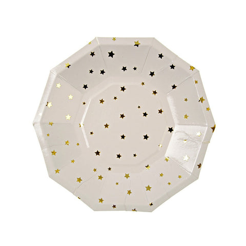 Meri Meri Toot Sweet Gold Stars Small Party Plates Australia