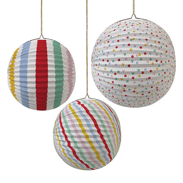 Meri Meri Paper Lantern Spots and Stripes Party Decorations Australia