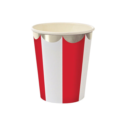 Meri Meri Red and Silver Stripe Paper Cups Australia
