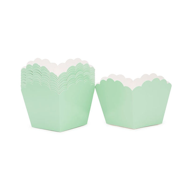 Mint Green Scallop Favour Boxes Australia