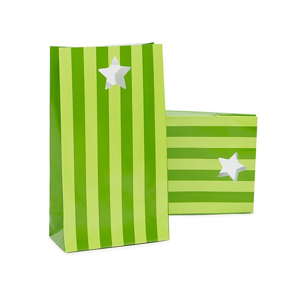 Paper Eskimo Apple Green Stripe Party Bags Australia