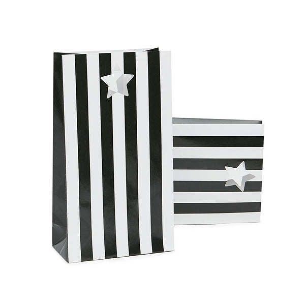 Paper Eskimo Black Tie Stripe Party Bags Australia