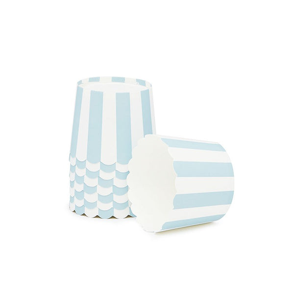 Paper Eskimo Powder Blue Stripe Baking Cups Australia