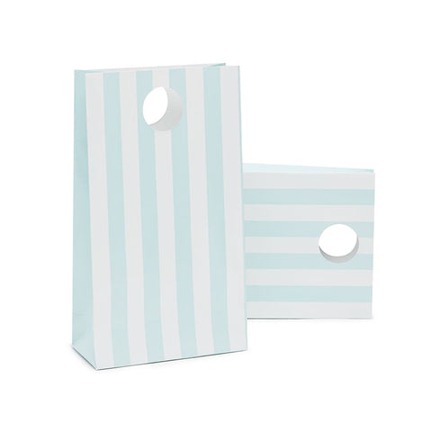 Paper Eskimo Powder Blue Stripe Party Bags Australia