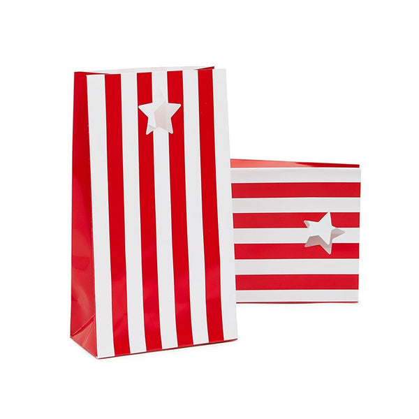 Paper Eskimo Red Candy Cane Stripe Party Bags