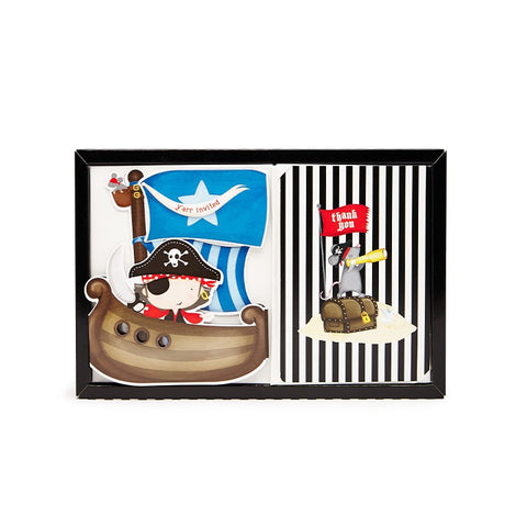 Paper Eskimo Pirate Ahoy Poppit Birthday Party Invitations Australia