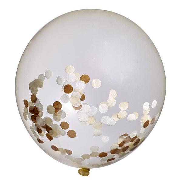 Rose Gold Confetti Jumbo Balloon
