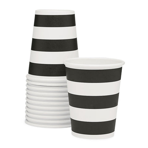 Sambellina Black & White Candy Stripe Cups Australia