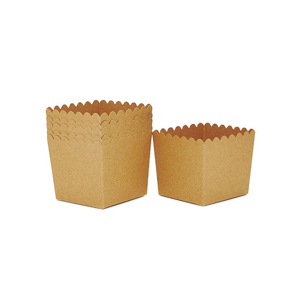Sambellina Kraft Scallop Favour Box Australia