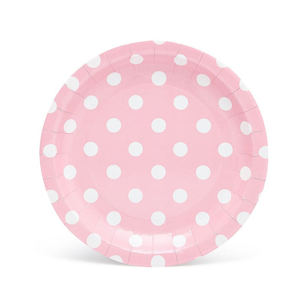 Sambellina Pink with White Polka Dot Cake Plates
