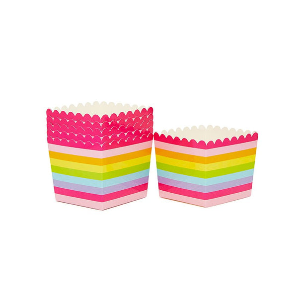 Sambellina Rainbow Stripe Scallop Favour Box Australia