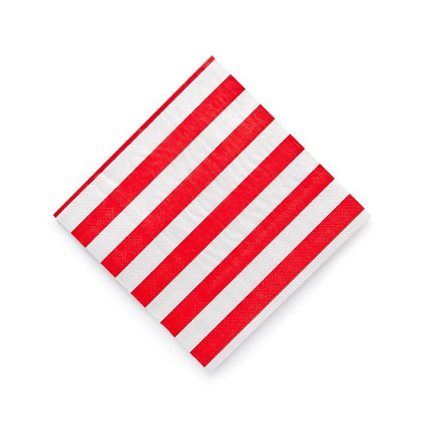 Sambellina Red Candy Stripe Napkins Australia