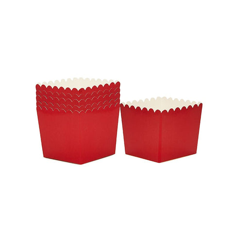 Sambellina Red Scallop Favour Box
