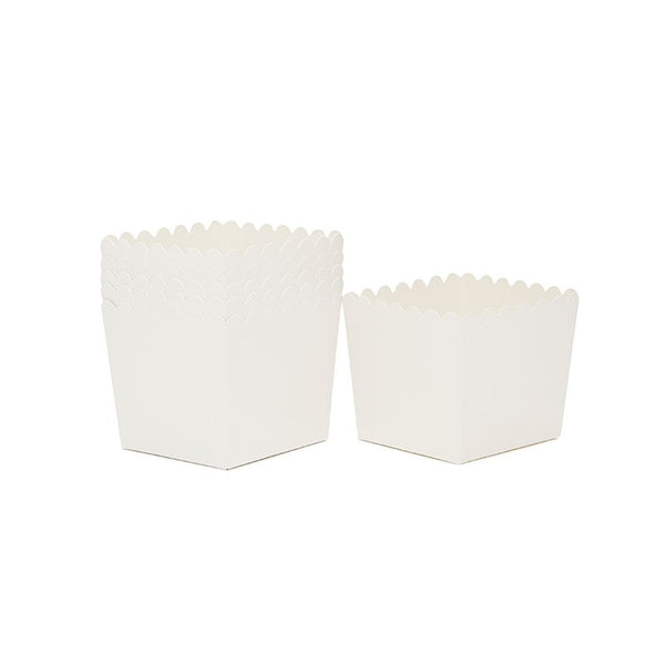 Sambellina White Scallop Favour Box Australia