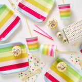 Sambellina Rainbow Candy Stripe Cups