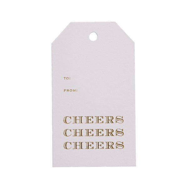 Sugar Paper Gold Cheers Gift Tag Australia