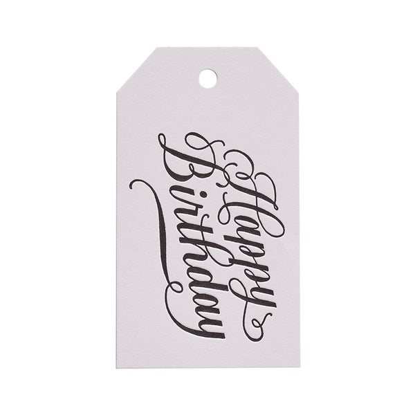 Sugar Paper Calligraphy Happy Birthday Gift Tag Australia