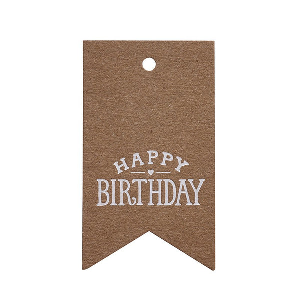 Sugar Paper Kraft Happy Birthday Gift Tag Australia