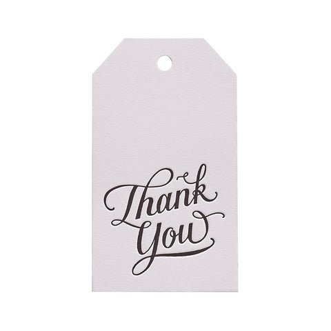 Sugar Paper Calligraphy Thank You Gift Tag Australia